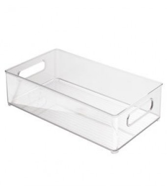 InterDesign Kitchen Bin, 10-Inch by 6-Inch by 3-Inch, Clear