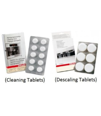 Miele Coffee Machine Cleaning Tablets (10pk) and Descaling Tablets (6pk)