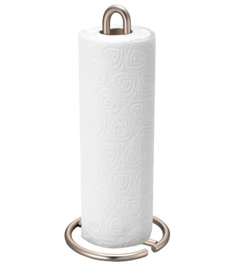 Home Basics Paper Towel Holder, Satin Nickel Simplicity Collection