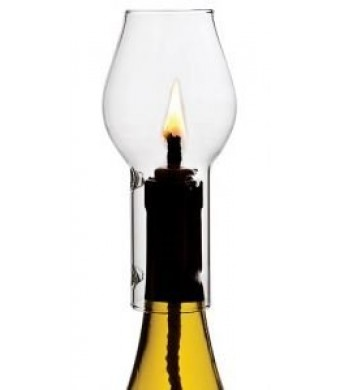 Multi-Colored Glass Wine Candle Chimney Set