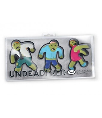 Fred and Friends UNDEAD Fred and Friends Zombie Cookie Cutters, Set of 3