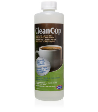 CleanCup Descaling Liquid for Home Coffee Machines (14 oz bottle)
