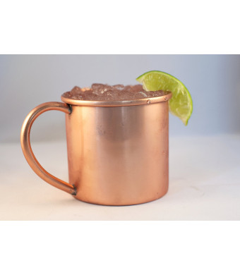 Copper Mug for Moscow Mules - 16 oz - 100% pure copper