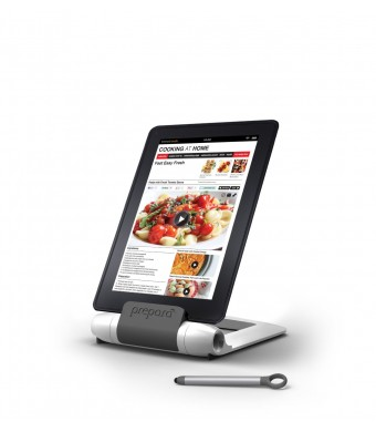Prepara IPrep Tablet Stand and Stylus, White