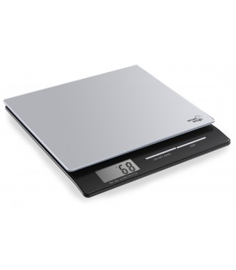 Smart Weigh PL11B Professional Digital Kitchen and Postal Scale with Tempered Glass Platform, Silver