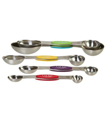Prepworks from Progressive Stainless Steel Snap Fit Measuring Spoons, Set of 5