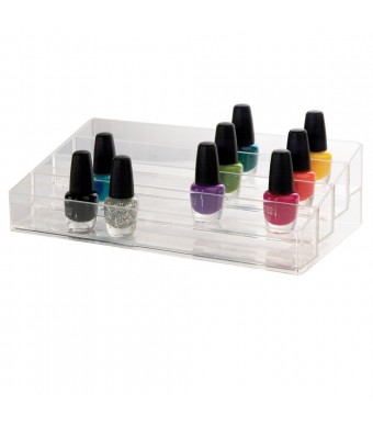 US Acrylic Clear Multi-Level Nail Polish Organizer