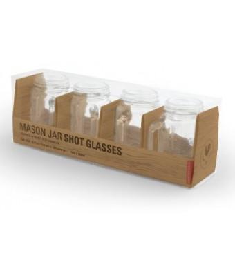 Kikkerland Mason Jar Shot Glasses, Set of 4