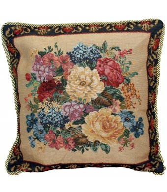 "Tache 1 Piece 18""  X 18""  Tapestry Country Rustic Floral Morning Awakening Throw Pillow Cushion Cover"