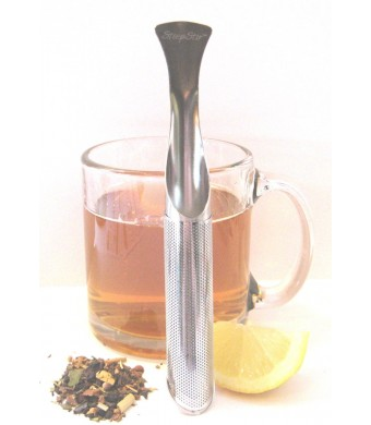 The Most Amazing Tea Infuser - The Steep Stir! Premium Tea Infuser - Tea Strainer - Tea Steeper - Best Portable Loose Leaf Tea Infuser!