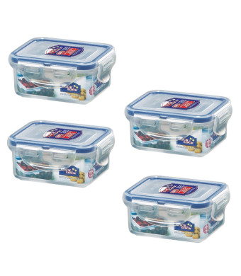 Lock and Lock, No BPA, Water Tight, Food Container, 0.7-cup, 0.6-oz, Pack of 4, HPL805