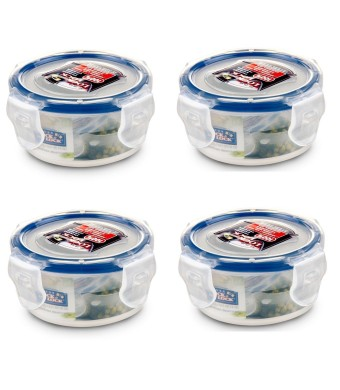 Lock and Lock, No BPA, Water tight, Food Storage Container, 3-oz, Pack of 4, HPL931