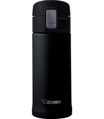 Zojirushi SM-KHE36BA 0.36-Liter Stainless Steel Travel Mug, 12-Ounce, Black
