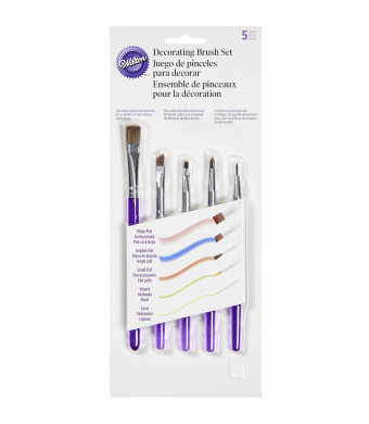 Wilton 1907-1352 5-Piece Decorating Brush Set
