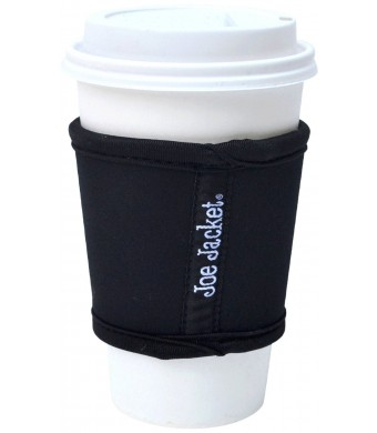 Joe Jacket Neoprene Drink Insulator Sleeve, Cup Grip, Black