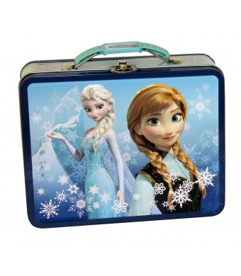 Disney Frozen Metal Tin Lunchbox - Blue