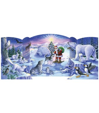 North Pole Friends Free Standing Advent Calendar
