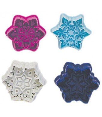 R and M International 490 Pastry/Cookie/Fondant Stamper, 3-Inch, Snowflake
