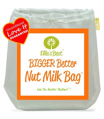 "Pro Quality Nut Milk Bag - Big 12"" X12""  Commercial Grade  - Reusable Almond Milk Bag and All Purpose Strainer - Fine Mesh Nylon Cheesecloth and Cold"