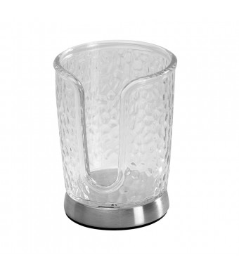 InterDesign Rain Disposable Cup Dispenser, Clear