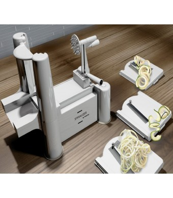Spiralizer By Palermo- Voted the Best Vegetable Maker, Spiral Slicer, Peeler, Shredder, Cutter and Chopper You'll Ever Use.