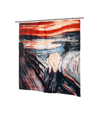 Carnation Home Fashions The Scream Fabric Shower Curtain