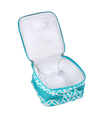 Insulated Water Resistant Lunch Bag (Aqua Sadie)