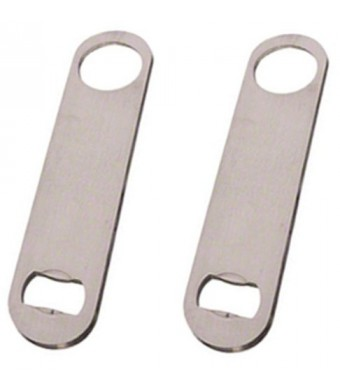 Heavy Duty Stainless Steel Flat Bottle Opener Set of 2