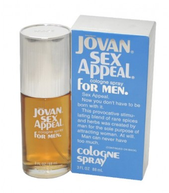 Jovan Sex Appeal by Jovan for Men - 3 Ounce Cologne Spray