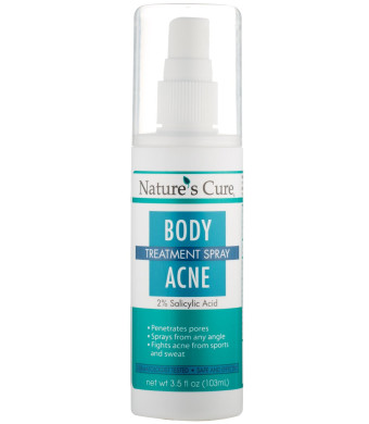 Natures Cure Body Acne Treatment Spray 3.5 Oz
