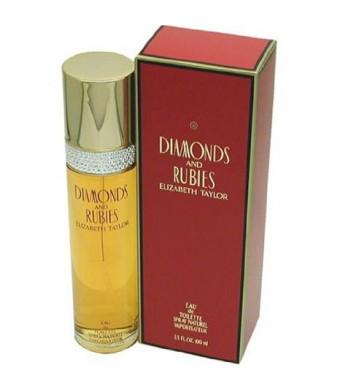 Diamonds and Rubies by Elizabeth Taylor for Women, Eau De Toilette Spray, 1.7-Ounce