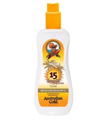 Australian Gold SPF 15 Spray Gel, 8 Ounce
