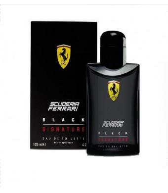 BLACK SIGNATURE By Scuderia Ferrari For Men. Eau De Toilette Spray 4.2 Ounces