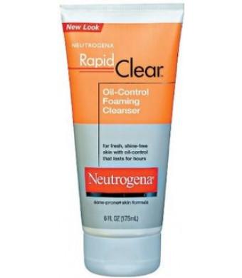 Neutrogena Rapid Clear Oil-Eliminating Foaming Cleanser, 6 Ounce