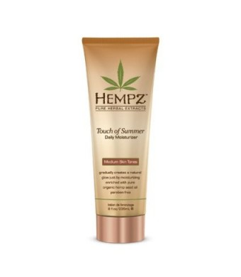 Supre Hempz Touch of Summer Moisturizer for Medium Skin Tones, 8oz