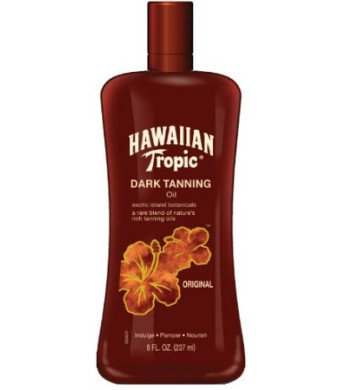 Hawaiian Tropic Dark Tanning Oil, SPF 0, 8 Fluid Ounce