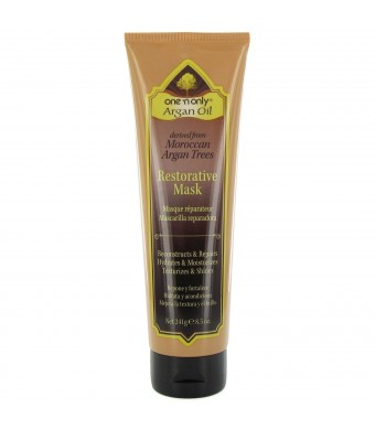 one 'n only Argan Oil Restorative Mask Derived from Moroccan Argan Trees, 8.5 Ounce