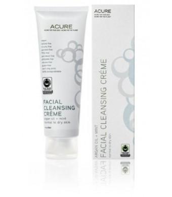 ACURE Facial Cleansing Creme - 4 oz - Argan Oil + Mint