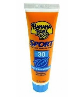 Banana Boat Sport Sunblock SPF 30 travel size 1 oz (case of 24)