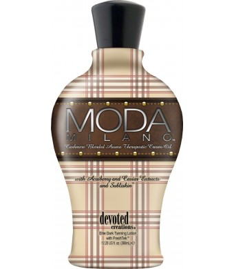 Devoted Creations Moda Milano Tanning Lotion Cashmere Blended Aroma Therapeutic Cream Oil 12.25 oz