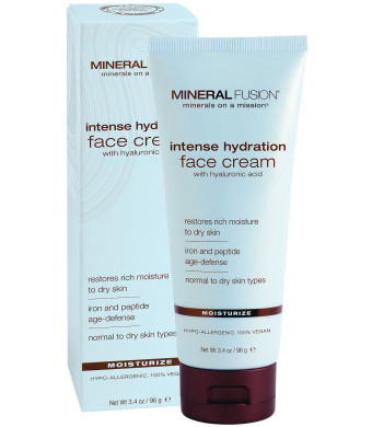 Mineral Fusion Natural Brands Intense Hydration Facial Cream 3.4 Ounce