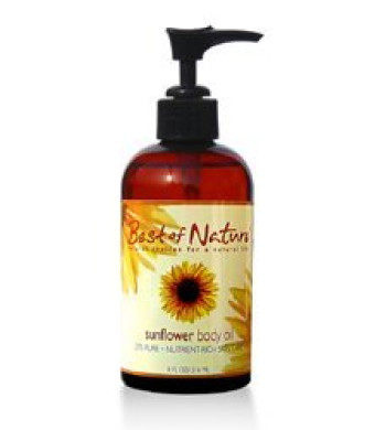 Sunflower Body Oil - 8oz -100% Pure Body/Hair Oil