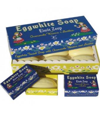 "Eggwhite Soap ""Eiwit Zeep""  with Chamomile 6-bar Gift Box"