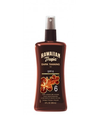 HAWAIIAN Tropic Dark Tanning Oil Pump SPF 6, 8 Fluid Ounce