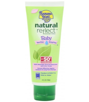 Banana Boat Natural Reflect Baby Sunscreen Lotion SPF 50, 4 Fluid Ounce