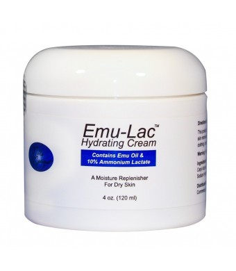 Noble Mystique Emu-Lac Hydrating Cream with Emu Oil and 10% Ammonium Lactate, 4 Oz (120 ml)