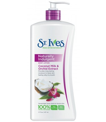 St. Ives Naturally Indugent Body Lotion, Coconut Milk and Orchid Extract, 21 Ounce