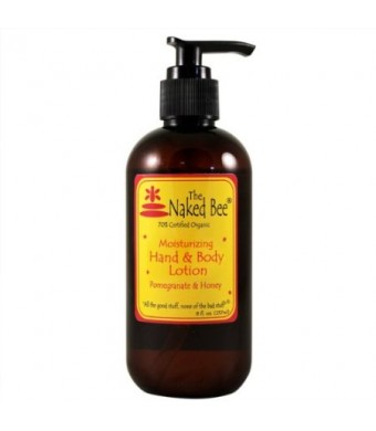 The Naked Bee Pomegranate Honey Moisturizing Hand and Body Lotion 8 oz. Pump