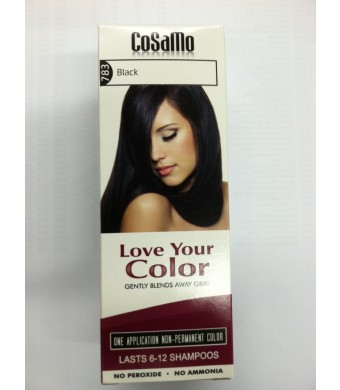 CoSaMo -Love Your Color- Ammonia and Peroxide Free Hair Color #783 Black (Pack of 3)