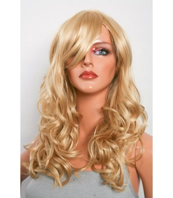 Epic Cosplay Hestia Caramel Blonde Curly Wig 22 Inches(08CBN)